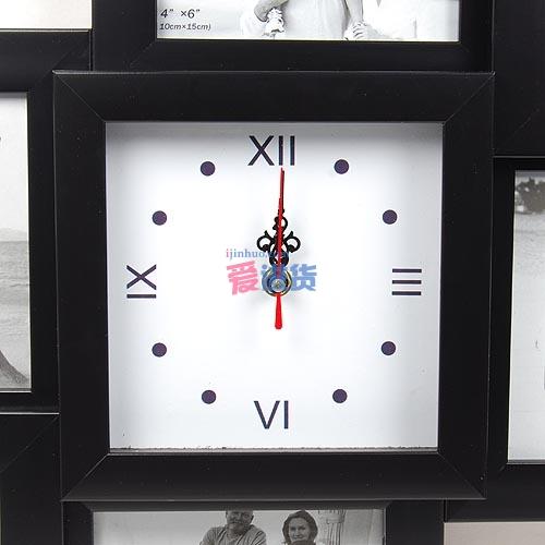 时尚钟表七个相框 7寸