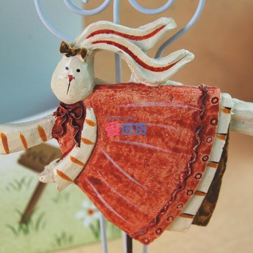 【出口英国原单】可爱树脂立体小兔子 便签夹名片夹