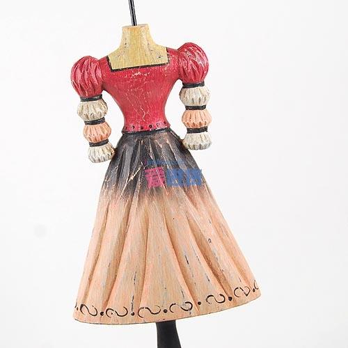 时光屋 出口欧美亮丽的木雕手绘美女模特韩式首饰架 梳妆台摆件 首饰