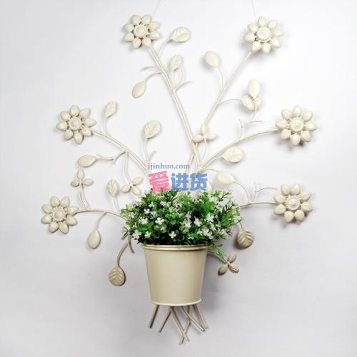 欧式田园风格铁艺花插 铁艺壁挂 墙面装饰 家具装饰首选
