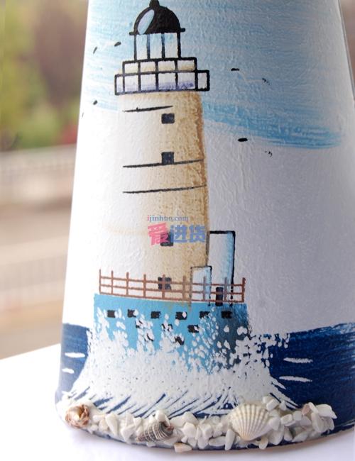 时光屋 地中海风格 手绘铁皮工艺 花插/花瓶/花器