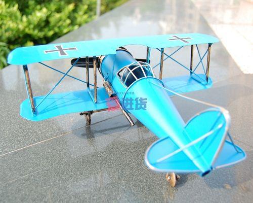 铁皮飞机模型/德国一战双冀信天翁飞机/男爵