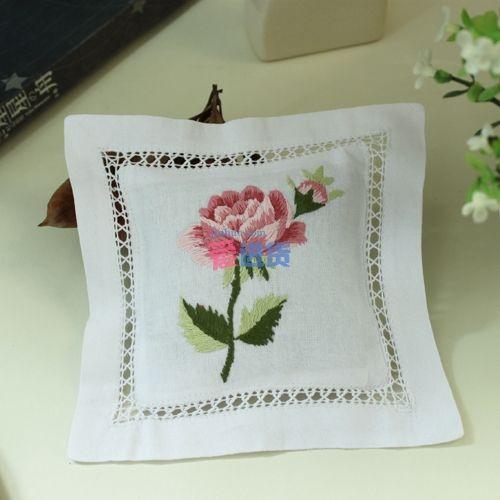 棉料法国手工立体绣 法式玫瑰花