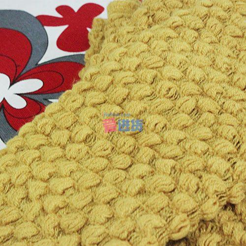 秋冬保暖围脖/玉米针织围脖/围巾 土黄色 蜜糖饰家