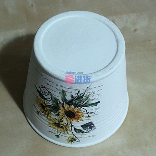 桶形陶瓷花插/花盆/花器/花瓶