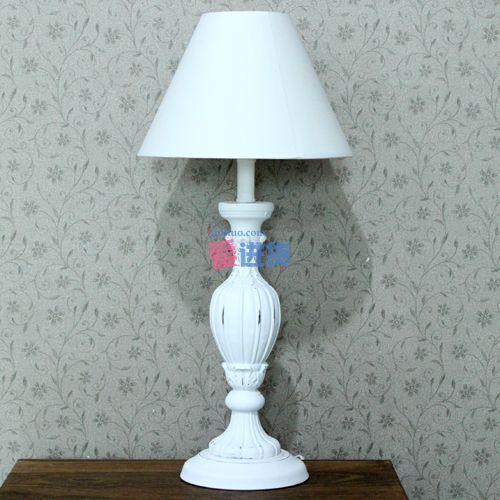 欧式仿古木制台灯 床头灯/装饰灯