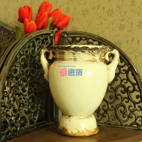 首页 家居装饰 花瓶 色釉花瓶摆件 欧式经典 个性复古陶瓷花插/花盆