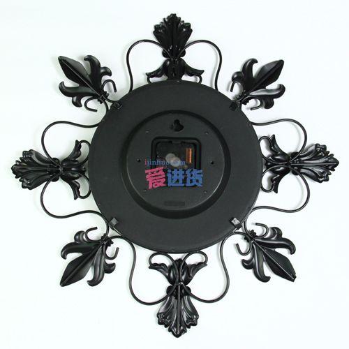 欧式复古 装饰挂钟/装饰壁钟 铁艺花边 家居饰品 时光