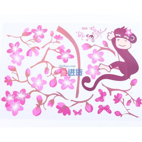 diy创意 墙贴/墙纸/贴纸 小猴子 时光屋