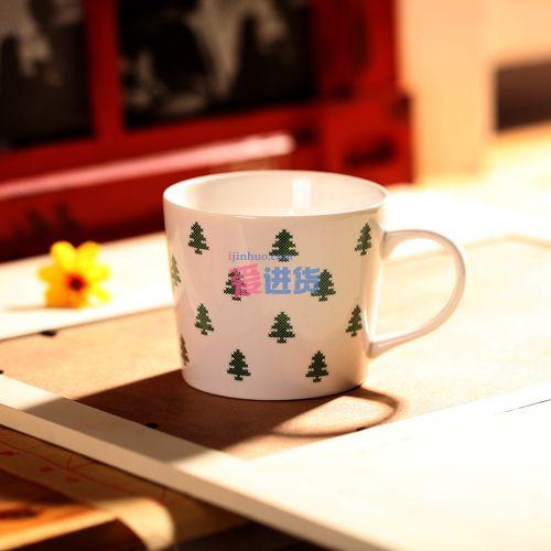 马赛克树纹 陶瓷杯/马克杯 三种图案 zakka图片