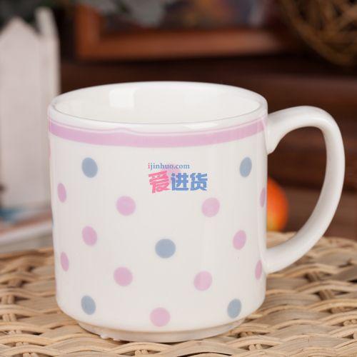 雅致花纹 马克杯/陶瓷杯/水杯 4色