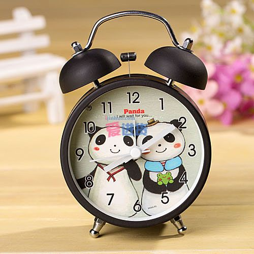 可爱熊猫 创意闹钟/卡通闹钟/时尚闹钟 大号4色