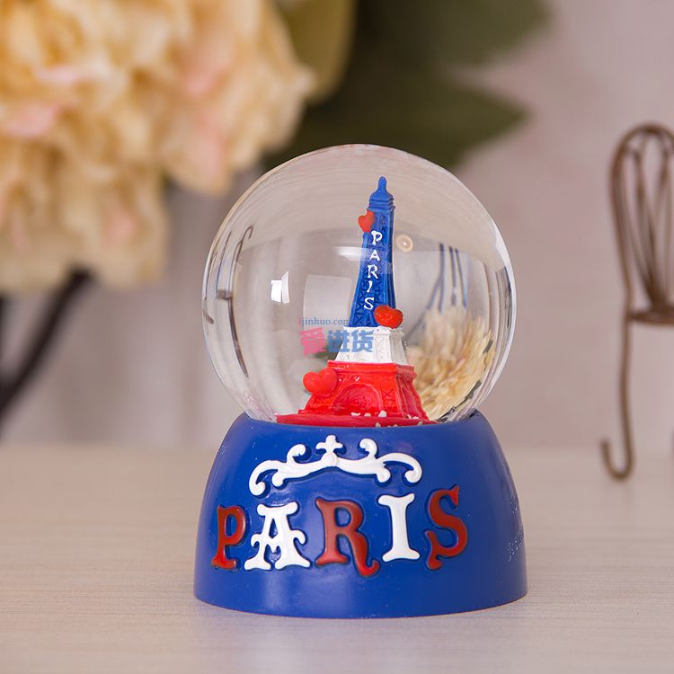 巴黎塔 水晶球/装饰摆件/桌面摆件_有爱的水晶球_树脂