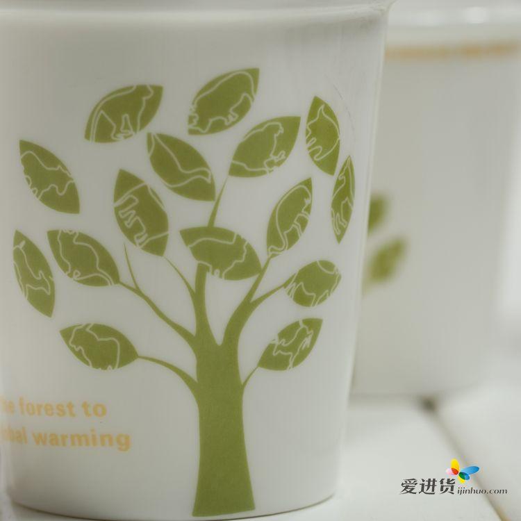 小树发芽 陶瓷杯/马克杯/套杯 三件套