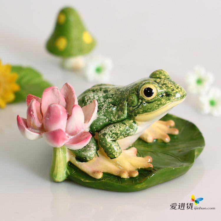 创意摆件 树脂摆件河塘青蛙 桌面装饰摆件欧式时尚摆件新品