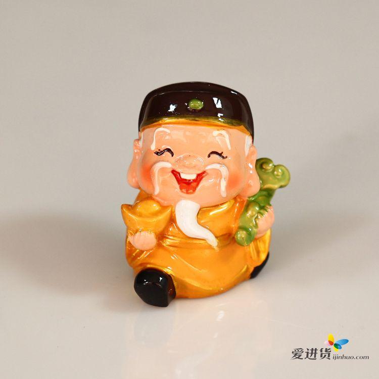 q版小神仙公仔卡通财神摆件观音月老文昌寿婆小佛像汽车饰品