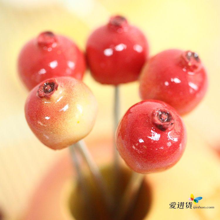 创意不锈钢石榴水果叉 韩国时尚水果签 可爱蛋糕叉