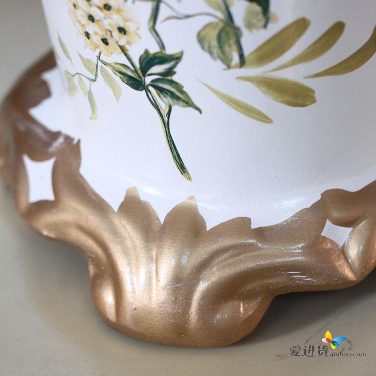 欧式现代时尚 手绘蔷薇花 陶瓷花瓶花器 结婚礼品装饰