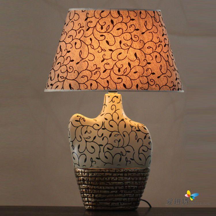 经典欧式复古印花卧室床头客厅装饰台灯