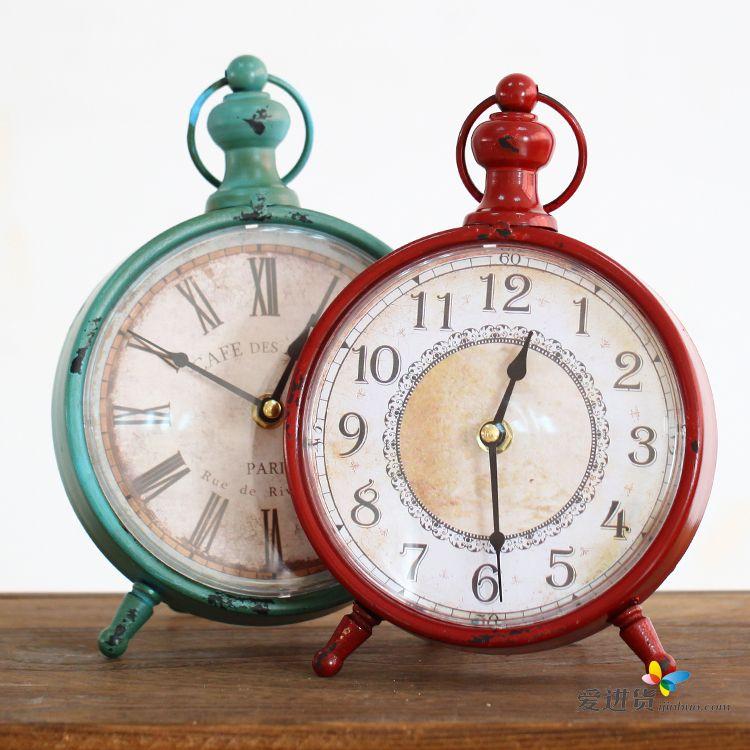 时尚欧式客厅卧室装饰品创意静音时钟表