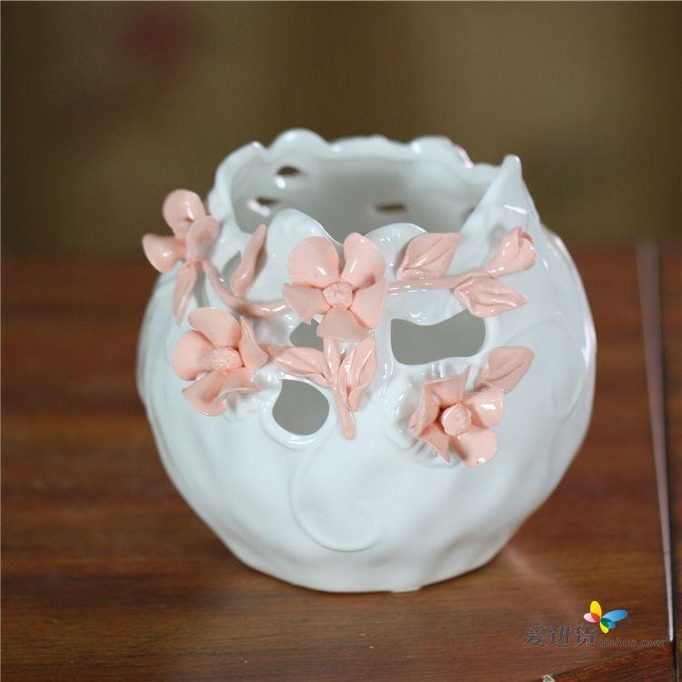 陶瓷花瓶 现代简约纯白陶瓷艺术装饰瓷家居花瓶