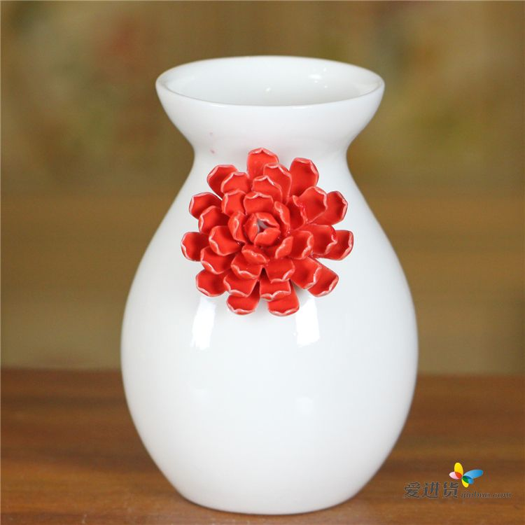 陶瓷花瓶 家居艺术装饰 带花陶瓷花瓶