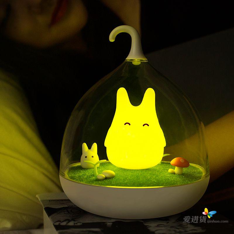 最新创意梦幻精灵灯 微景观 充电家居智能感应led灯 触碰调光可爱小夜
